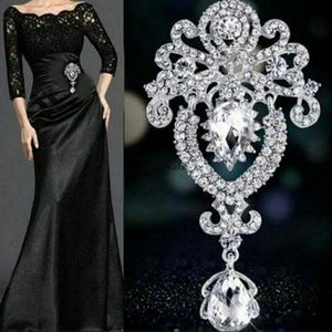 elite Jewelry - 💗❤Bouquet  Flower Brooch Pin,Rhinestone Crystal