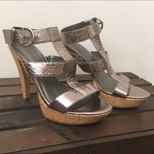 Chinese Laundry Metallic Gladiator Heels