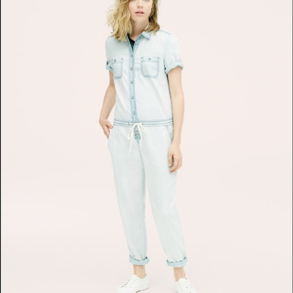 43ed1b7083 NWT Loft Lou   Grey Chambray Jumpsuit