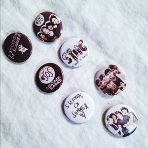 5 Seconds of Summer Accessories - 5SOS Pins