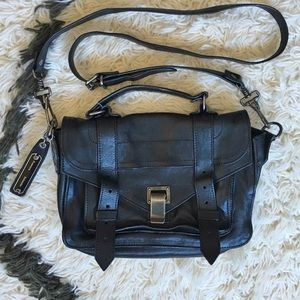 "Proenza Schouler Handbags - Proenza Schouler PS1 ""Tiny"" black/gunmetal"