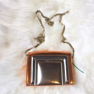 Jimmy Choo Handbags - Jimmy Choo Orange Metallic Ava mini Cross Body Bag