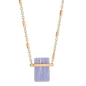 💠📿Serenity Rectangular Pendant Necklace