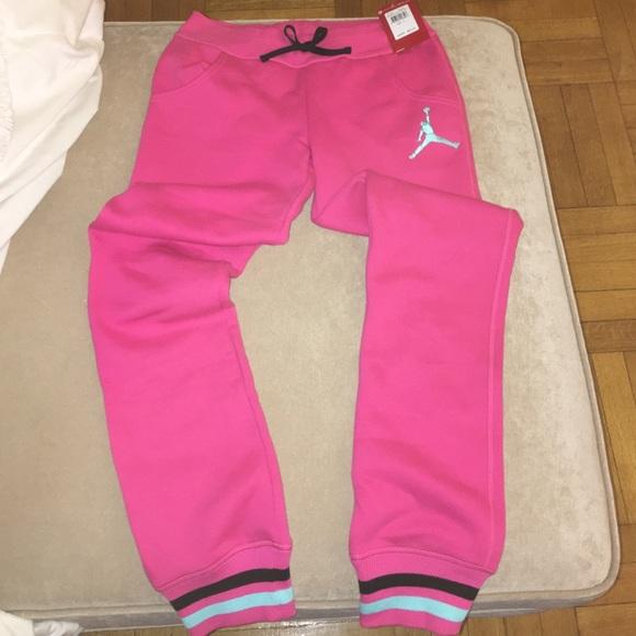 0e2c72fad8a5 Pink Jordan sweatpants