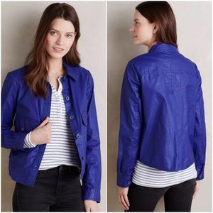 Cobalt Royal Blue Coated Utility Swing Jacket