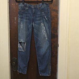 """Frankie B. Denim - frankie b. """"Zip it"""" jeans"""