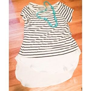 Anthropologie Tops - Anthropologie Striped Long Top