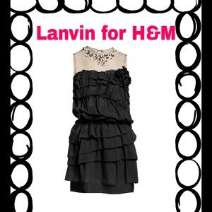 Lanvin for H&M Dresses & Skirts - Lanvin for H&M Bejeweled Silk Tiered Mini Dress