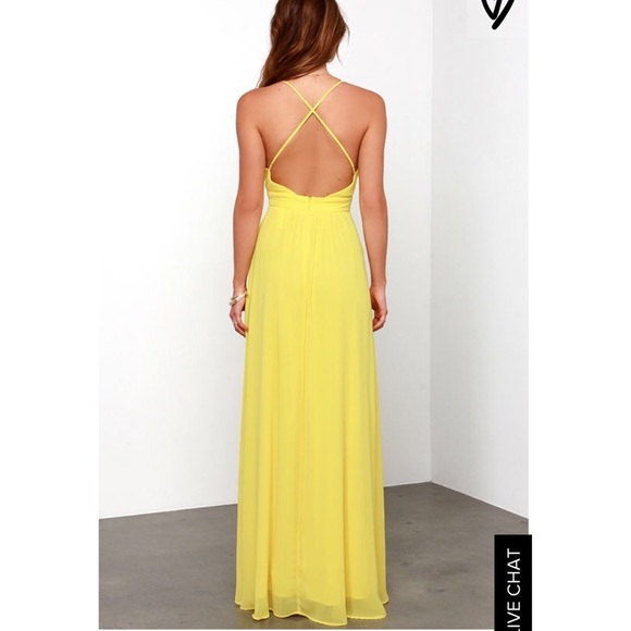 Lulu*s Yellow Maxi Dress From Bee ️suggested User