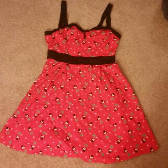68 Off Disney Dresses Amp Skirts Red Minnie Mouse Cherry