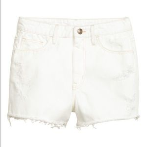 White Denim shorts high waist