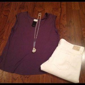 Heather Tops - Heather Crossback Tshirt