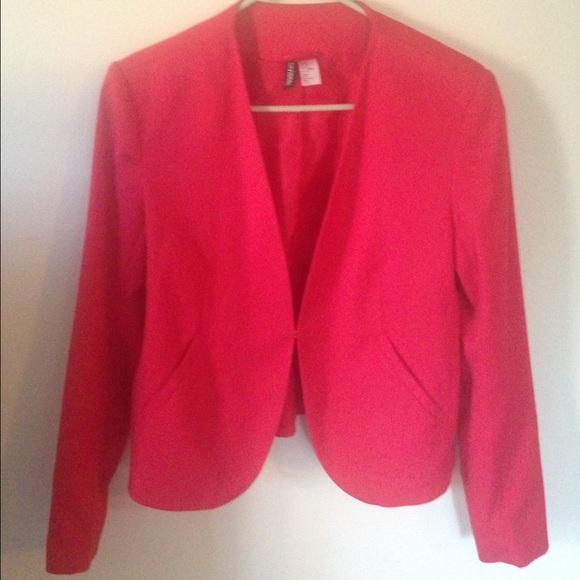 20bae31bbd27 H M Jackets   Blazers - Red cropped blazer jacket