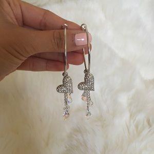Jewelry - Crystal heart earrings