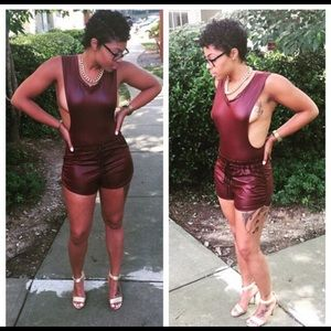 Other - Burgundy Bodysuit