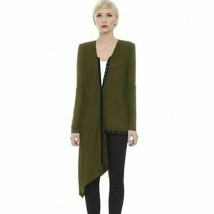 dE ROSAIRO Sweaters - Moss Green 5-Way Cardigan
