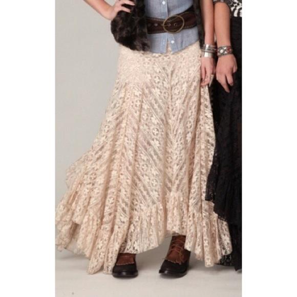 cfd3b09ac4 Free People Dresses   Skirts - Free People cream lace maxi skirt sz Small 😍