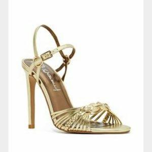 Jeffrey Campbell NEW gold heel sandals