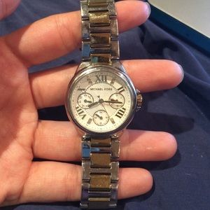 Michael kors watch, two toned