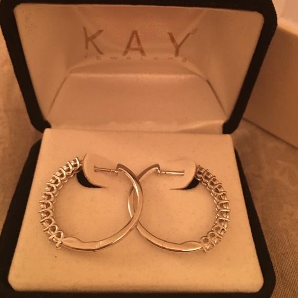 off Kay Jewelers Jewelry Kay Jewelers 10WG Diamond hoop