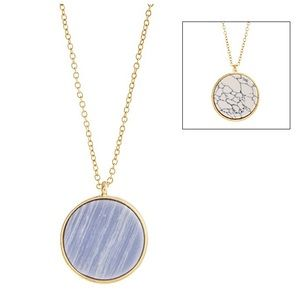 💠📿Double Sided Disc Pendant Necklace