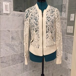 Free People Lace Varsity Jacket
