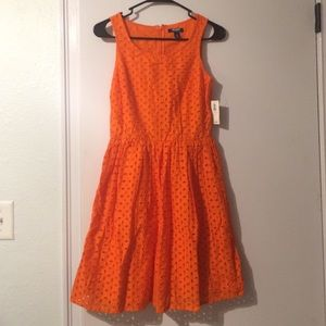 Old Navy orange eyelet dress