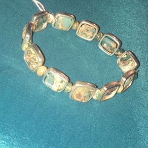 Melt Your Heart designs by Joyce Accessories - Semiprecious stone silver bracelet