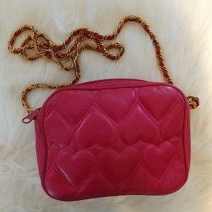 Retro Chic Handbags - Adorable Pink leather purse