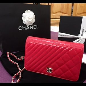 Authentic Chanel Coco Boy Wallet On Chain WOC