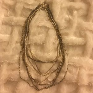 Jewelry - Chain and pearl long necklace