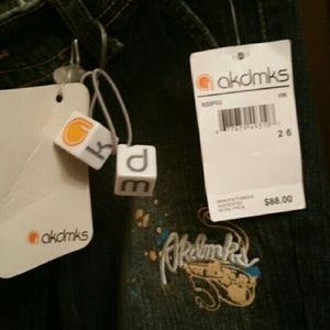 AKDMKS new with tags size 5/6 or 26 jeans dark
