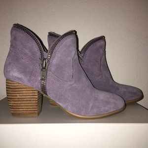 NEW Chinese Laundry Lilac zippered suede booties
