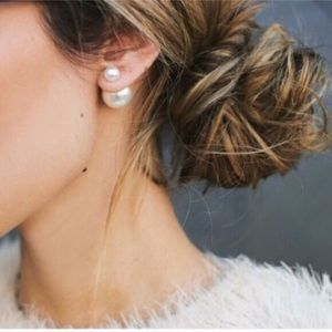 Pearl Double sided Earring