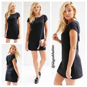 Urban Outfitters Dresses & Skirts - Kimchi Blue Black Damask Empire Mini Dress