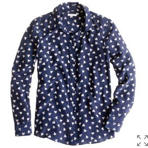 J.Crew French Hen Silk Blouse