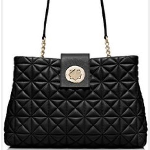 34% off kate spade Handbags - Kate Spade Quilted Black Shoulder ... : quilted kate spade handbag - Adamdwight.com