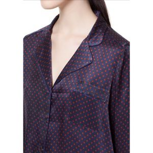 Rare Zara 2013 Silk pajamas polka dots shirt