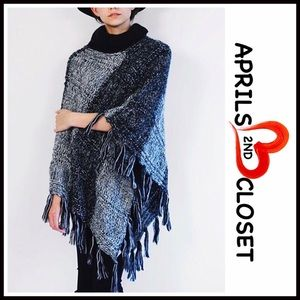 Everything In Love Sweaters - ❗1-HOUR SALE❗PONCHO Pullover Fringe Tassel Trim
