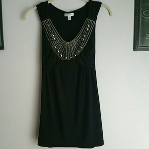 LITTLE BLACK DRESS WITH BLING