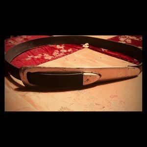 ADRIENNE K Accessories - Black Leather Belt by ADRIENNE K MADE IN W.GERMANY