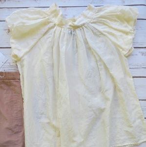 Buttercream  Cotton and Silk Blend  Peasant Top