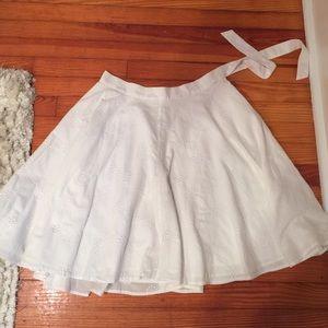 Isaac Mizrahi for Target cotton A-line flowy skirt