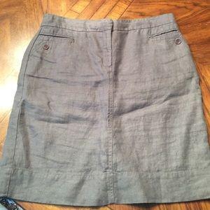 Eileen Fisher szS 100%linen skirt in gray...