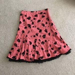 Anthropologie midi length skirt (6)