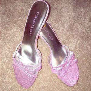 Rampage pink glitter heels