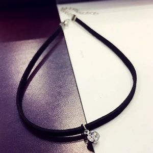 ASOS Jewelry - Brand new ASOS suede choker with Crystal