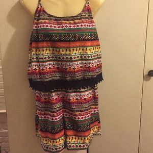 NWT colorful romper