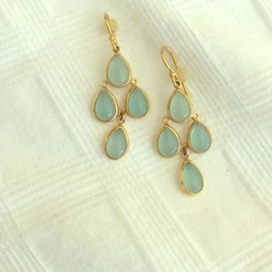 Chandelier teardrop gem earrings