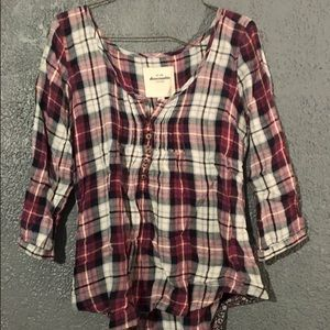 Abercrombie flannel top